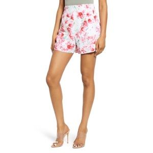 NWT Leith High Rise Watercolor Floral Shorts